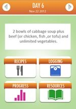 cabbage soup diet smartphone app